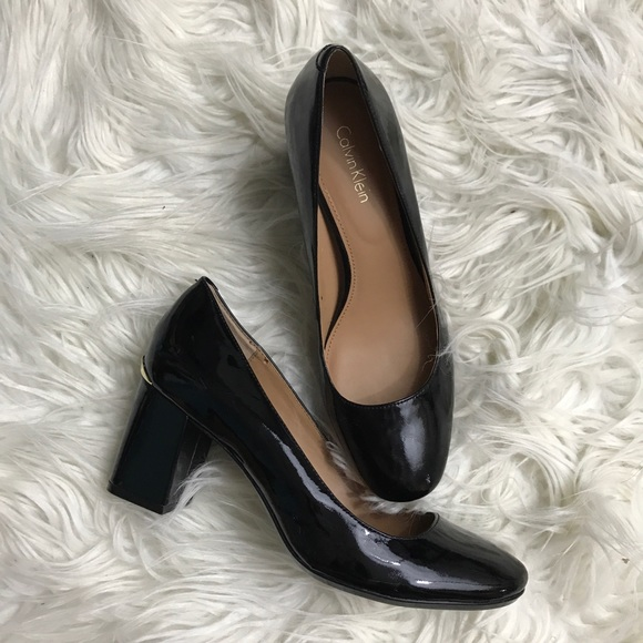 4dd37a638c Calvin Klein Shoes - Calvin Klein Cirilla Black Patent Leather Pump 7.5